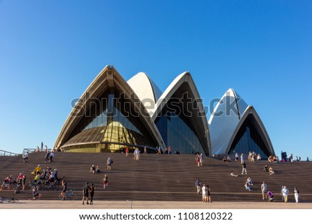Sydney Opera House in sunny day. Australia:02/04/2018