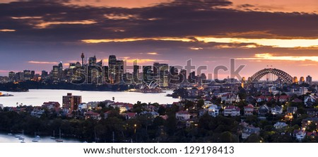 Sydney Panorama taken from a unique position in Mosman not available to the public