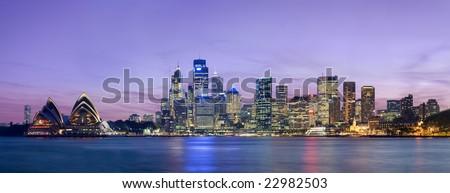 Sydney skyline at dusk