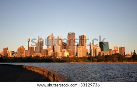 Sydney skyline in Australia during summer