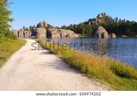 Sylvan Lake and Black Hills rock formations along the Needles Highway