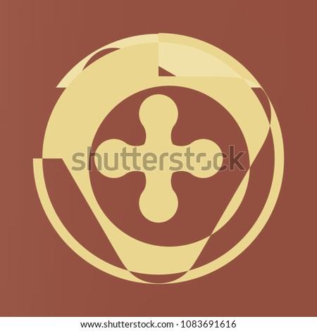 Symbol. Abstract geometric modern art. Digital wall print. #1083691616