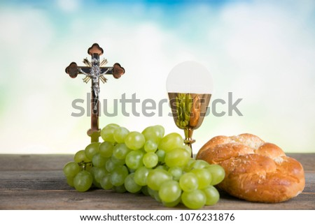 Symbol christianity religion, Communion background #1076231876