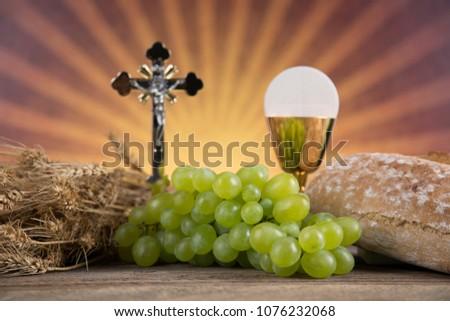 Symbol christianity religion, Communion background #1076232068