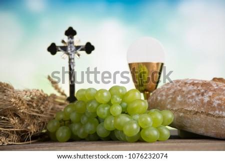 Symbol christianity religion, Communion background #1076232074