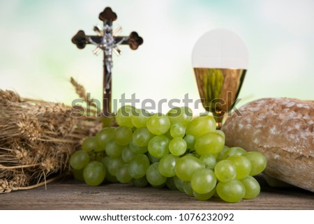 Symbol christianity religion, Communion background #1076232092