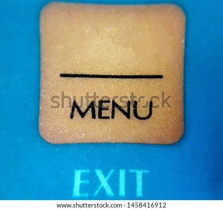 Symbol for menu item exit item text