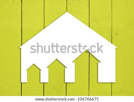 symbol house in wooden wall