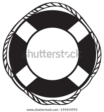 Symbol lifebuoy isolated on white. Raster version