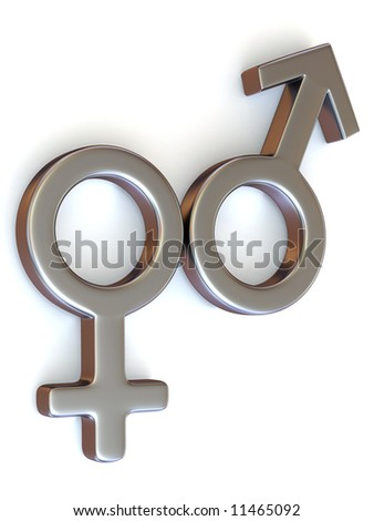 Symbol Men and Women. Love. 3d