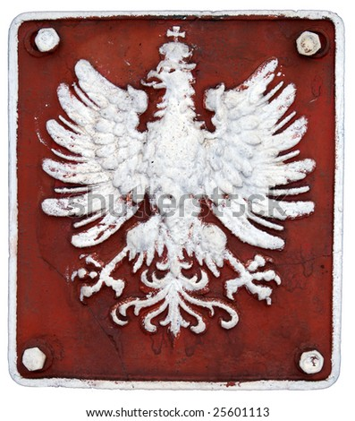 Symbol of eagle in poland in on railroad used XIX w.