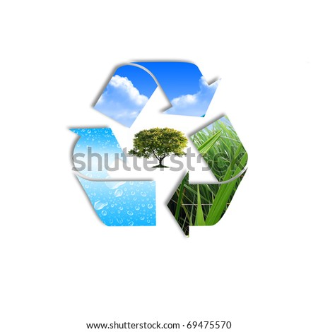 symbol of environment protection and recycling technology