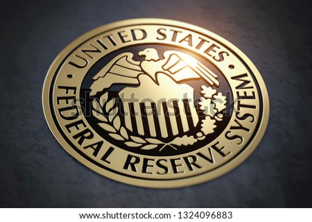 Symbol of FED federal reserve of USA. 3d illustration Photo stock ©