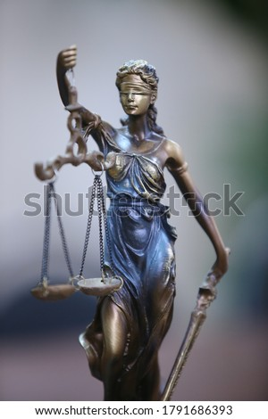 Symbol of law and justice. Concept law and justice. Scales of justice, gavel and book ストックフォト ©