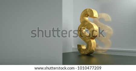Symbol of Law and Justice - Paragraph / section sign on the floor in apartment - 3D Rendering #1010477209
