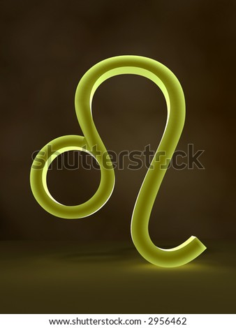 Symbol of Leo zodiac sign