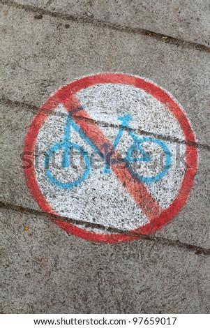 Symbol of No Bicycle Sign