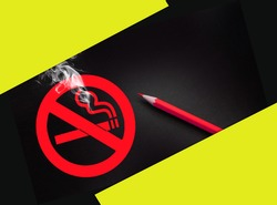 Symbol of No Smoking Zone Sign. Healthy living concept.