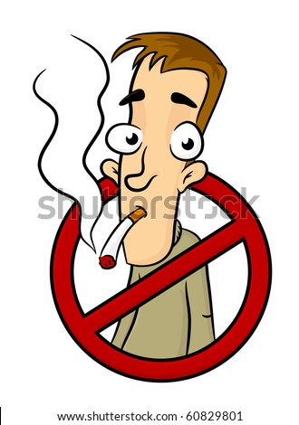 Symbol of No smoking zone sign with people on it