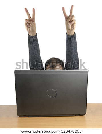 Symbol of success - stock photo