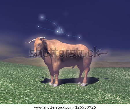 Symbol of the zodiac sign of Taurus