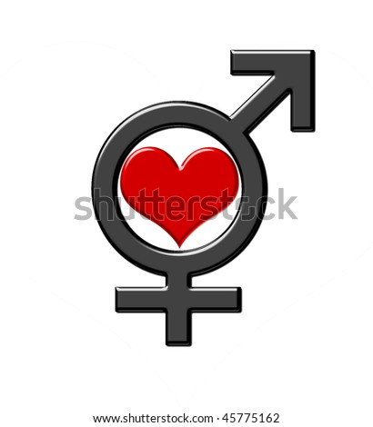 stock photo : Symbol of unity male and female beginnings, love logo, Yin-
