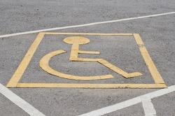 Symbol of wheel chair, Thailand.