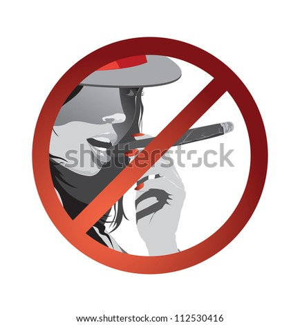 Symbol smoker on the white background