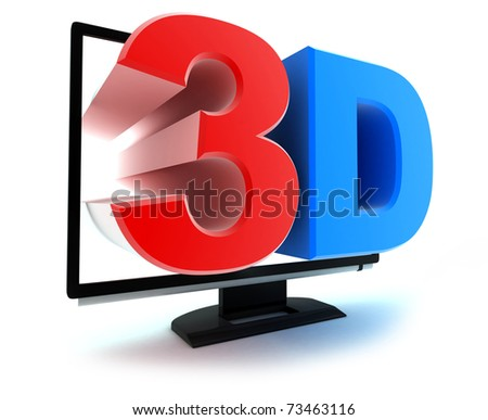 """Symbol """"TV 3d"""" (done in 3d, isolated)"""