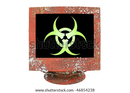 stock photo : symbol virus infection, grungy