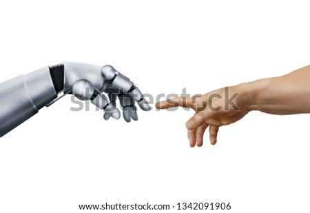 Symbolic animation by touching a robot #1342091906