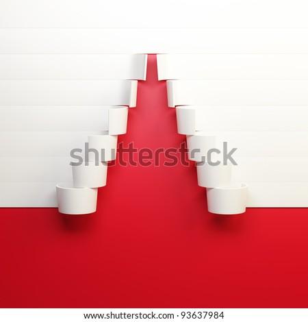 symbolic Christmas tree 3d rendering