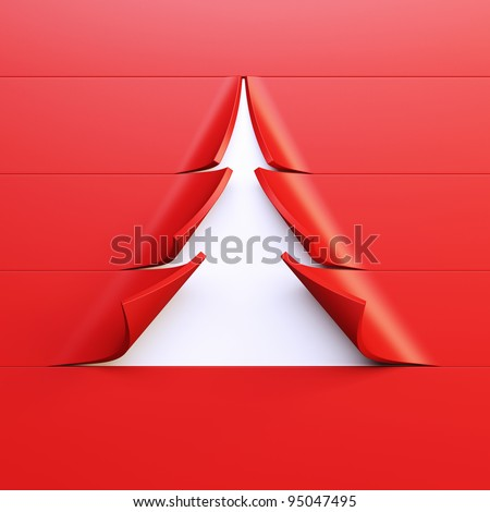 symbolic Christmas tree 3d rendering