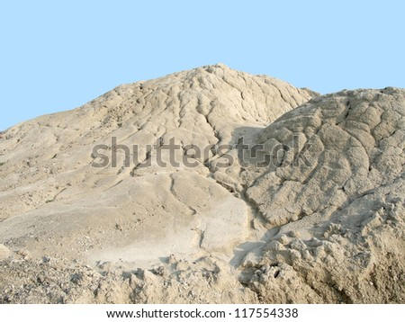 symbolic picture showing erosion details of a clay mound