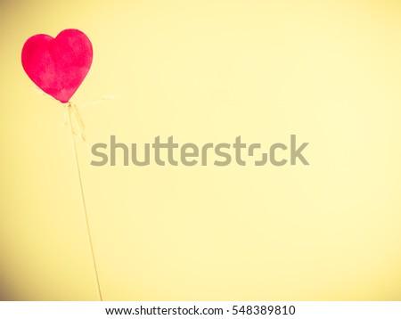 Symbolism feelings valentines romance nobody concept. Lonely heart on pole. Love symbol on stick. #548389810