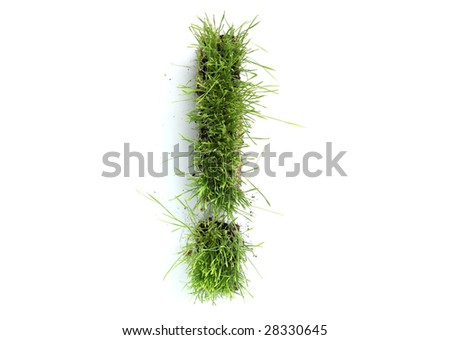 Symbols made of grass - exclamation mark