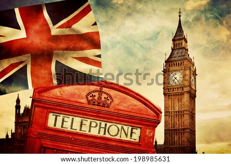 symbols of london  england  the ...