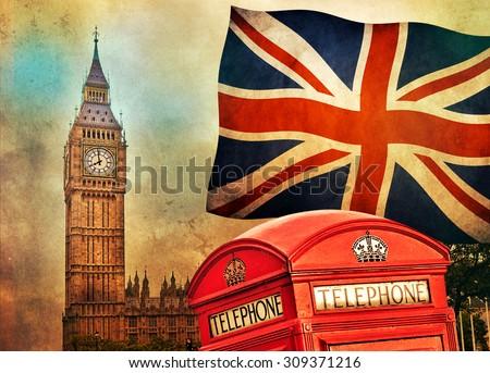 symbols of london  england  the ...