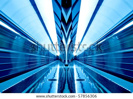 symmetric train motion