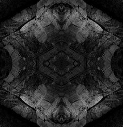 Symmetrical Mandala Background, made by ocean cliff rocks, Algarve, Portugal.