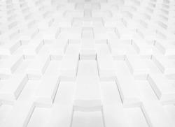 Symmetrical Rows of White bricks.