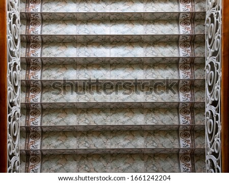 symmetry post modern town hall stairs wallpaper background architecture style top view frame concept picture