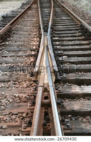 symmetry railway tracks