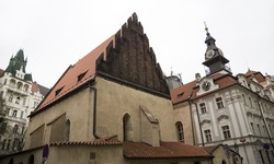 synagogue in Jewish Quarter of Prague (day) , Czech Republic