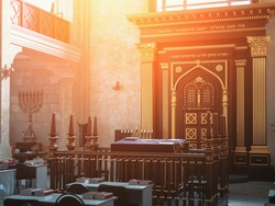Synagogue is main institution of Jewish religion, space serving as place of public worship and center of religious life of community