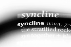 syncline word in a dictionary. syncline concept.