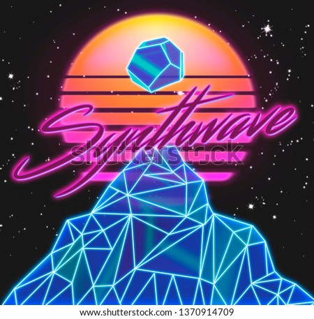 Synthwave music style 80s