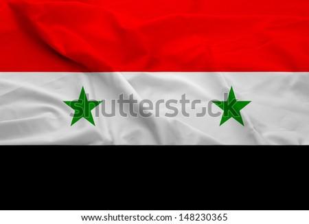 Syria Flag - stock photo
