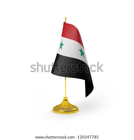 Syria Flag Detail Render
