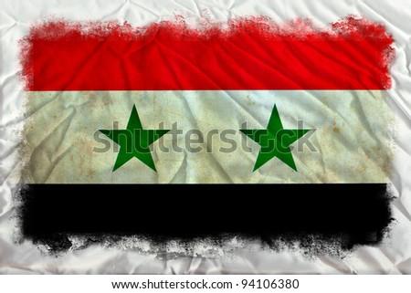 Syria grunge flag